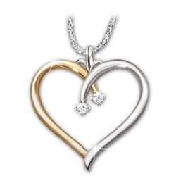 Love Always Heart Shaped Diamond Pendant Necklace