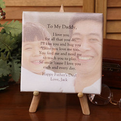 Personalized Photo Tabletop Canvas Art for Dad