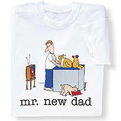 Mr. New Dad Diaper Dog T-Shirt