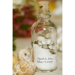 The Sand & Shell Bottle Wedding Favor :  recommender idea finders finds