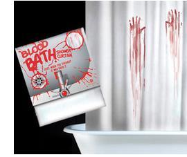 Blood Bath Shower Curtain