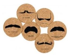 Mustache Coasters