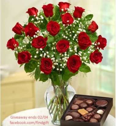 Valentine Flowers and Chocolates Giveaway