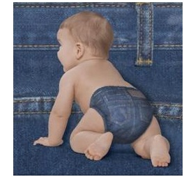Supreme Little Movers Jean Diapers Big Pack