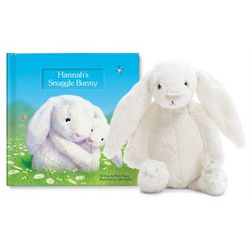 Personalized My Snuggle Bunny Book and Plush Gift Set