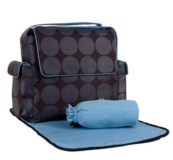 OiOi Dot Messenger Diaper Bag