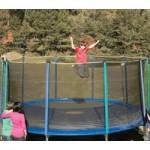 15-Foot Outdoor Trampoline Enclosure